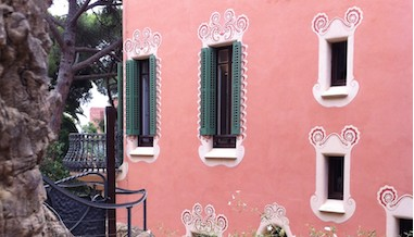 Tendance couleur rose maison parc gel barcelone